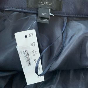J. Crew Skirts - NWT J. Crew Pleated faux leather skirt